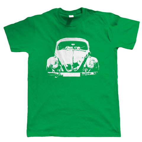 Beetle Oval Screen, Mens T Shirt - Retro Classic Car Love Bug Vee Dub Gift Him