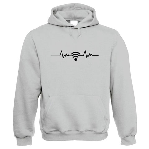 WiFi Signal and Heartbeat, Hoodie