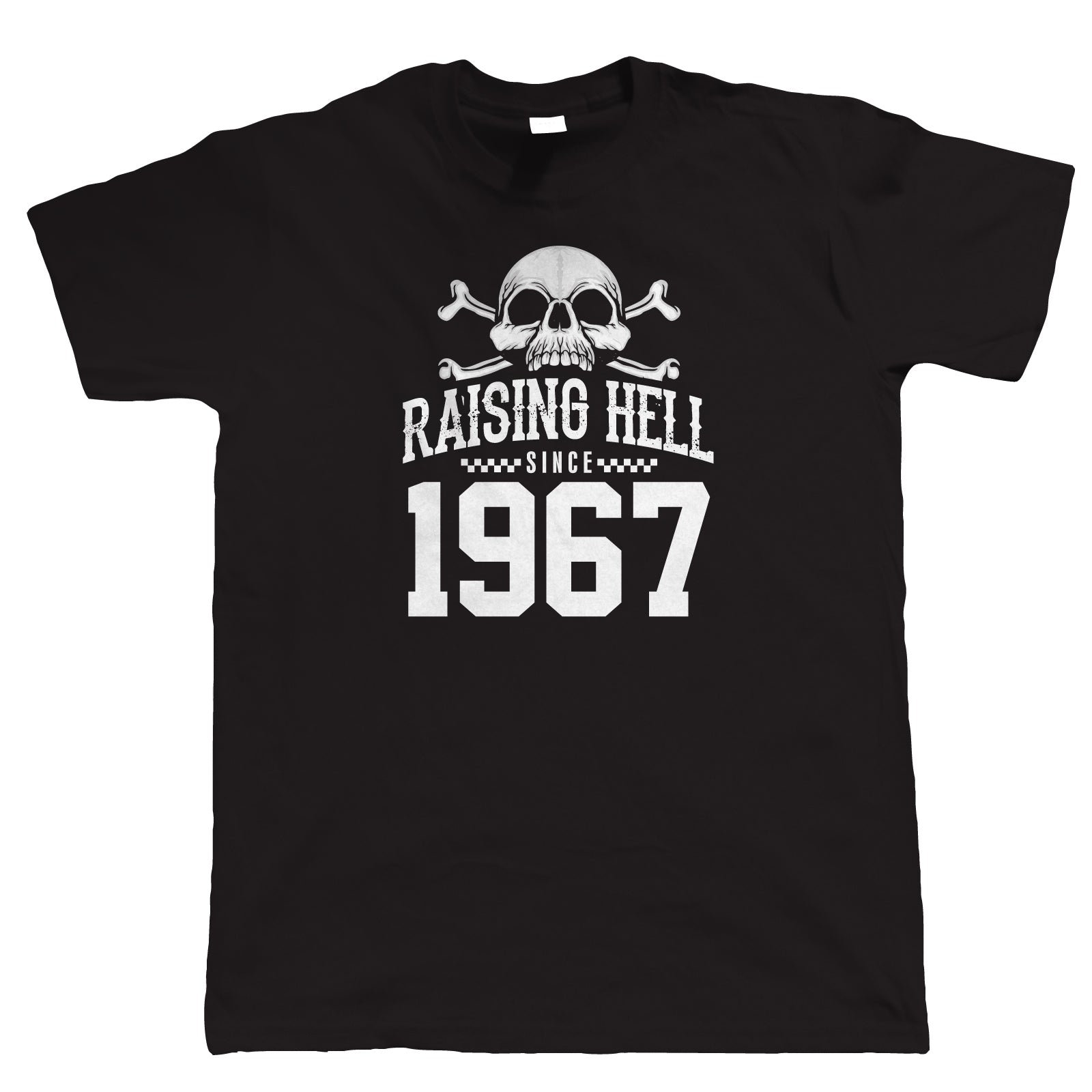Raising Hell Since 1967, Mens Biker T-Shirt, 50th Birthday Gift