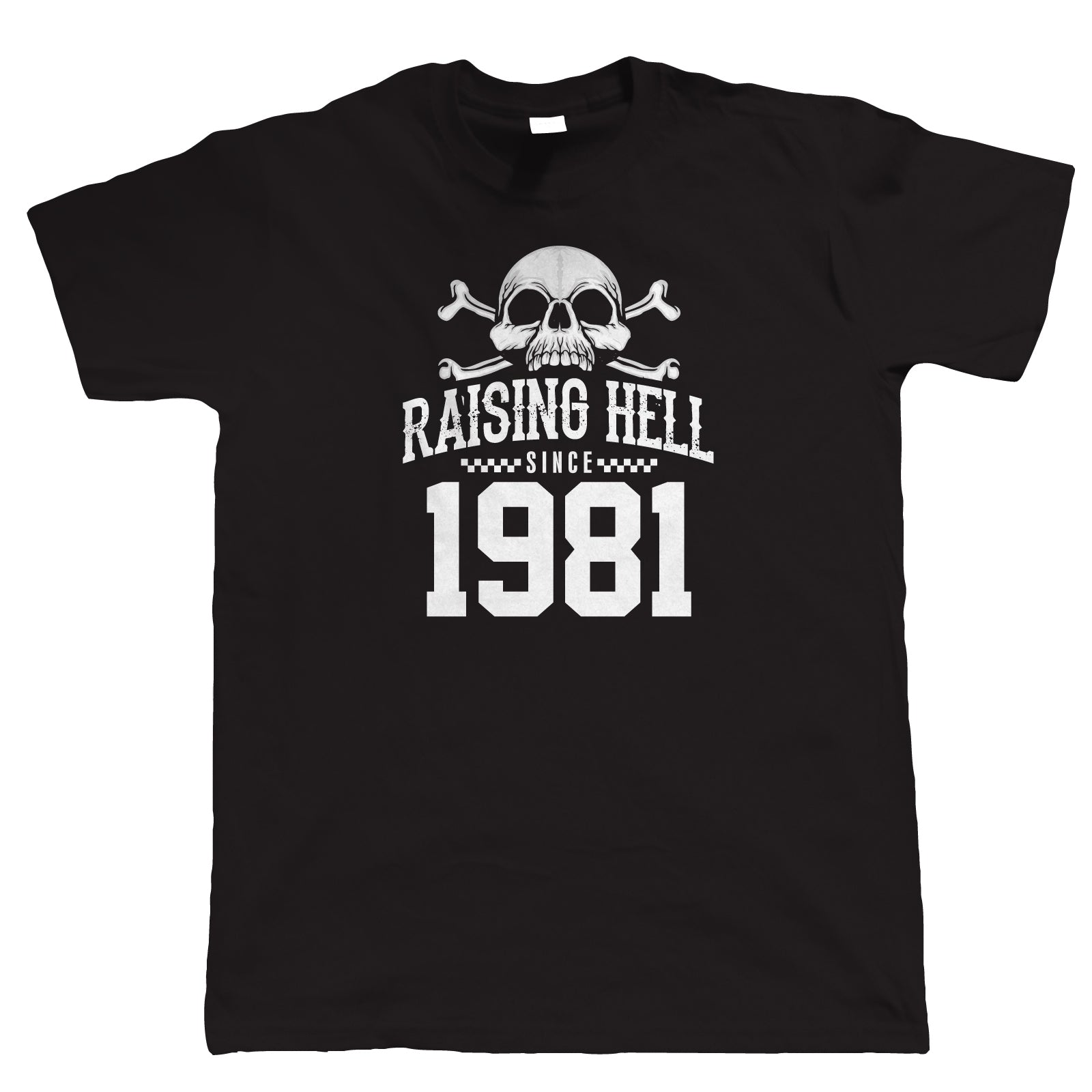 Raising Hell Since 1981, Mens Biker T-Shirt
