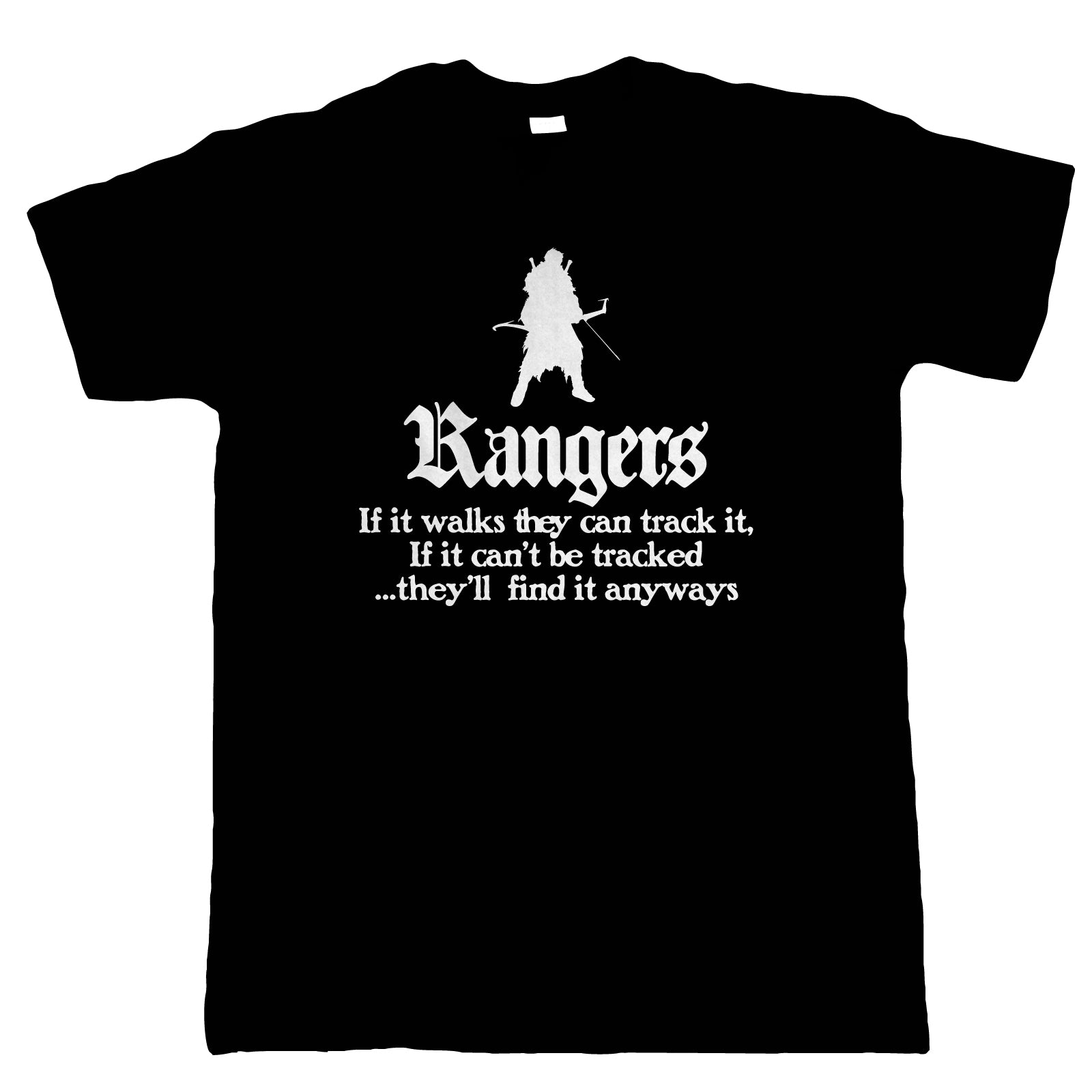 Rangers Mens T-Shirt | Dungeons Dragon D&D DND Pathfinder 3.5 Tarrasque | Crimson Throne Polyhedral D20 Fifth 5th Edition | Geek Gift Him Dad