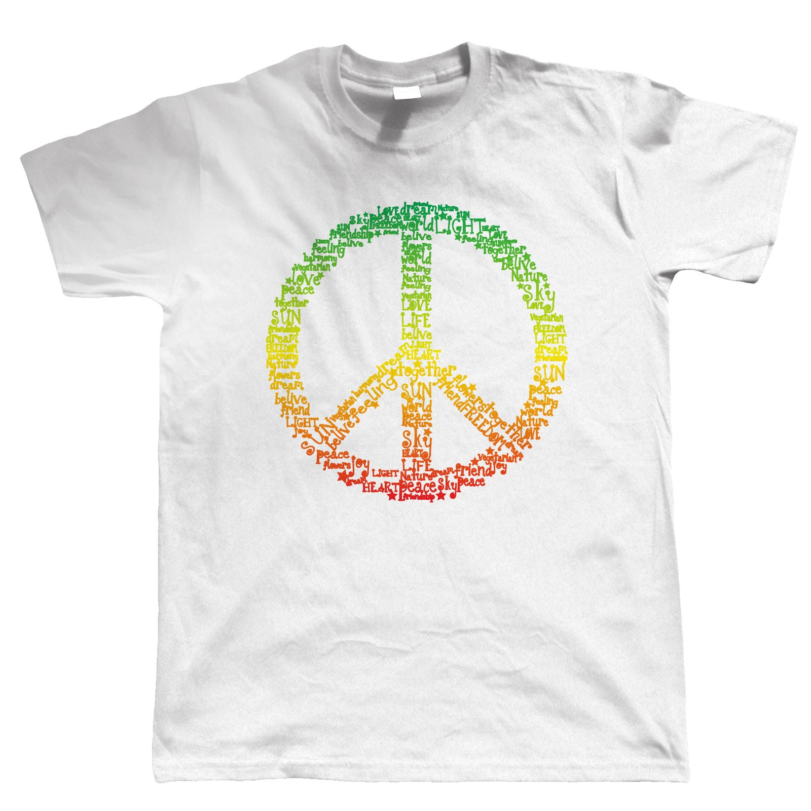 Rasta Peace Symbol, Mens T-Shirt