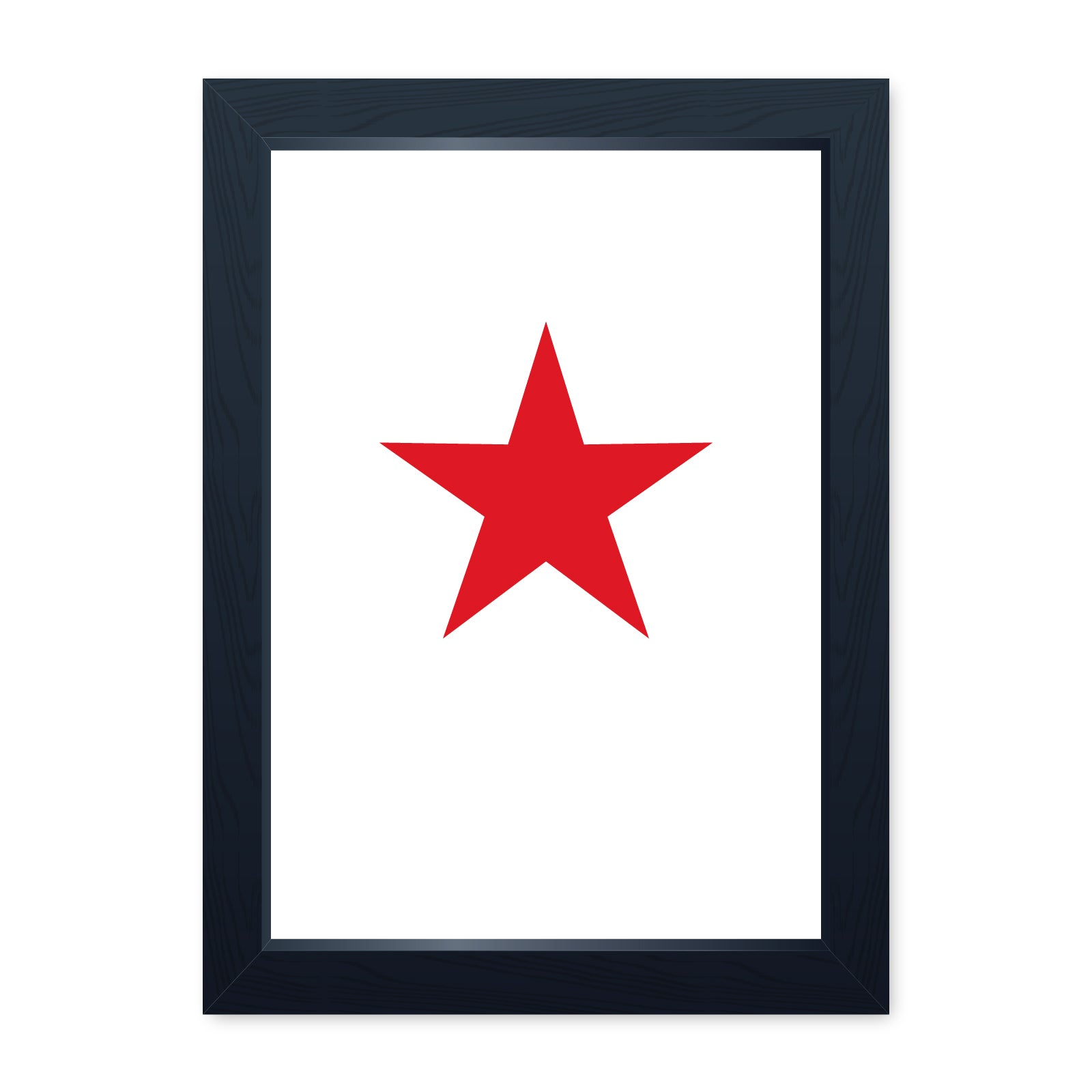Soviet Red Star, Quality Framed Print - Home Decor Kitchen Bathroom Man Cave Wall Art