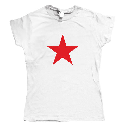 Red Star Retro Womens T Shirt | Communist Socialist USSR Che Guevara Cuban Revolution | Icon Motorcycle Diaries Castro Fidel Buenos Aires Marxist Guerilla | Pop Culture Gift Her Mum