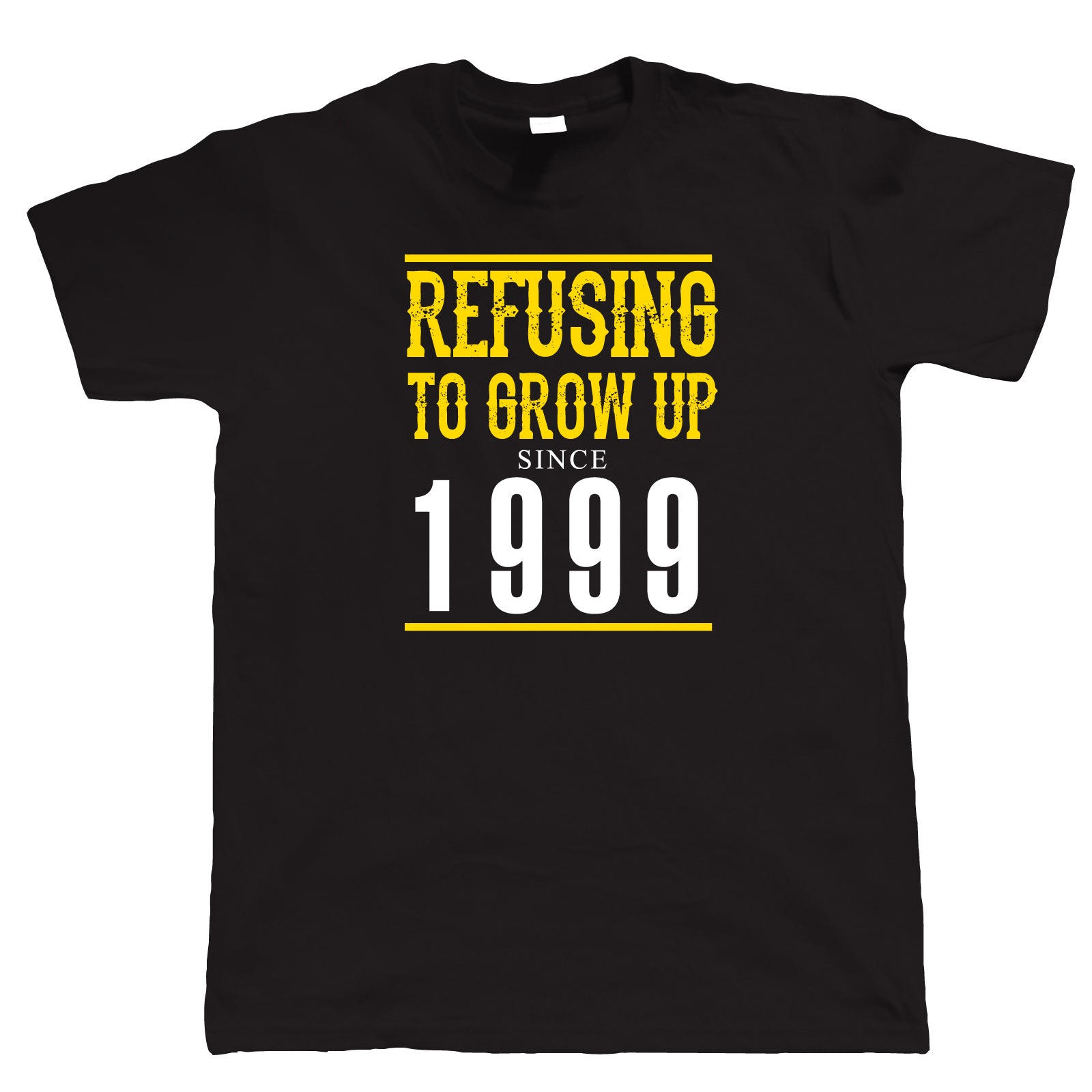 Refusing To Grow Up Since 1999 Mens Funny 21st Birthday T Shirt