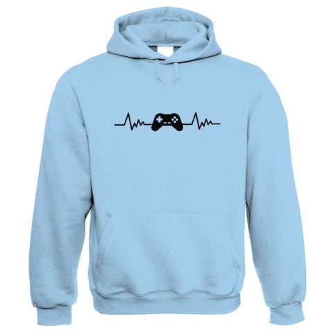 Retro Gaming Gamepad and Heartbeat, Hoodie