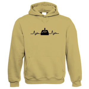 Joystick Pulse Retro Gaming Hoodie | Gamer Graphics Console PC Shooter RPG Free Roam | Humour Laughter Sarcasm Jokes Messing Comedy | Video Game Gift Him Her