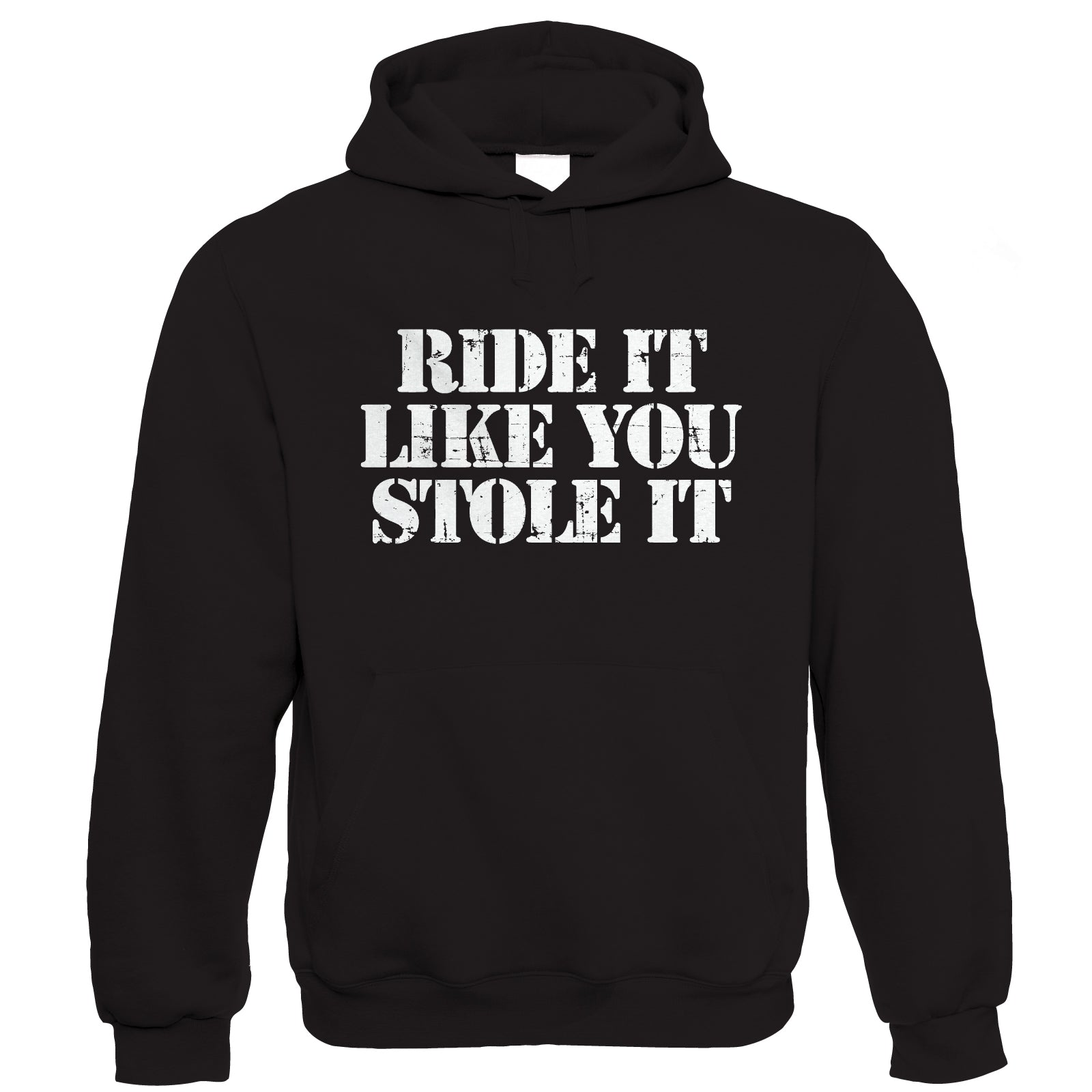 Ride It Like You Stole It, Mens Funny Biker Hoodie | Motorbike Racing Racer Enthusiast Motorcycle Club Chopper Cafe Racer Superbike Gentleman Biker | Cool Birthday Christmas Gift Him Dad Husband Son