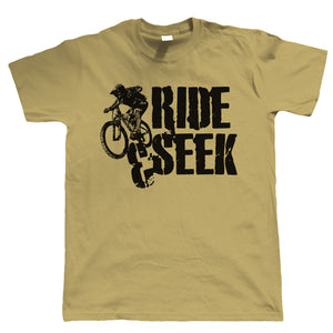 Ride & Seek, Mens Mountain Bike T-Shirt