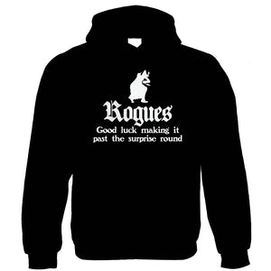 Rogues Hoodie | Paladin Kingmaker Rogues Knight Tower Shield Magic | Dungeons Dragon D&D DND Pathfinder 3.5 Tarrasque | Geek Gift Him Her Birthday