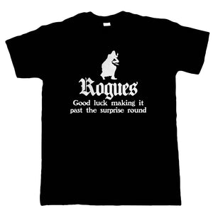 Rogues Mens T-Shirt | Paladin Kingmaker Rogues Knight Tower Shield Magic | Dungeons Dragon D&D DND Pathfinder 3.5 Tarrasque | Geek Gift Him Dad