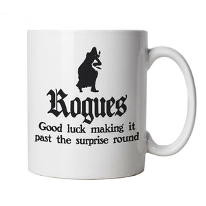 Rogues Mug | Paladin Kingmaker Rogues Knight Tower Shield Magic | Dungeons Dragon D&D DND Pathfinder 3.5 Tarrasque | Geek Cup Gift