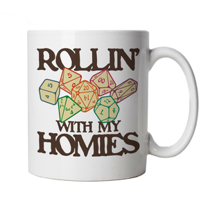 Rollin With My Homies Mug | Paladin Kingmaker Rogues Knight Tower Shield Magic | Dungeons Dragon D&D DND Pathfinder 3.5 Tarrasque | Geek Cup Gift
