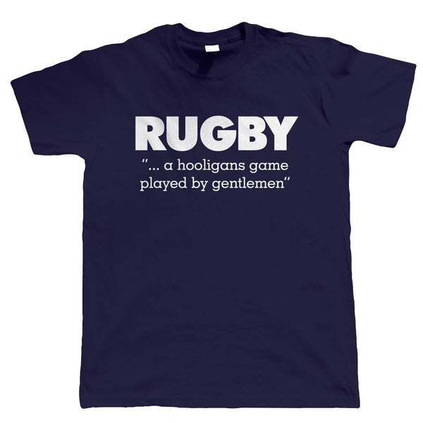 Rugby Hooligans Game, Mens Funny T-Shirt