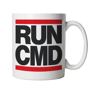 Run CMD Web Developer PC Gamer Geek Mug | Gamer Computer Tech Comic Fantasy Nerd Geek Retro | Gamer Graphics Console PC Shooter RPG Free Roam | Gaming Cup Gift
