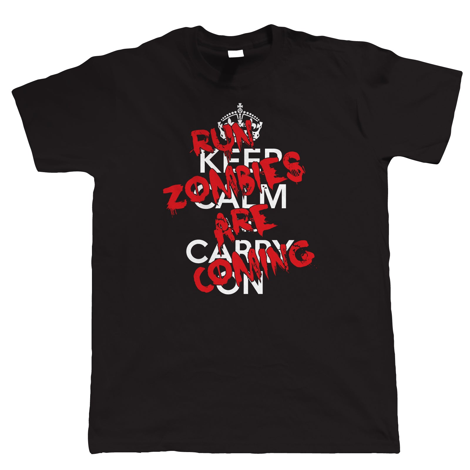 Run! Zombies Are Coming! Mens Funny T Shirt
