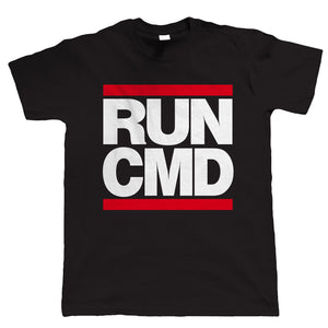 Run CMD, Mens Funny T-Shirt