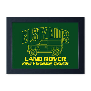Rusty Nuts Off Road, Funny Framed Print - Home Decor Kitchen Bathroom Man Cave Wall Art