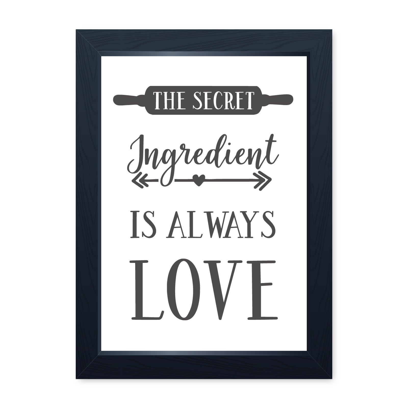 Secret Ingredient Is Love, Quality Framed Print - Home Kitchen Dining Cafe GBBO