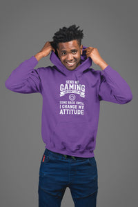Send Me Gaming Until I Change My Attitude, Hoodie - Power Button Gift
