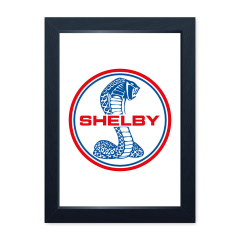 Shelby Cobra, Funny Framed Print - Home Decor Kitchen Bathroom Man Cave Wall Art