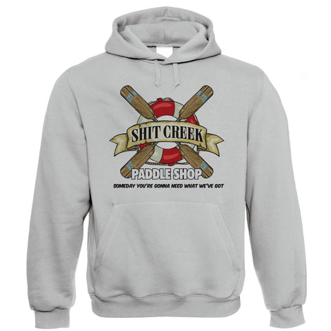 ShitCreek Paddle Shop Canoeing Kayaking Hoodie | Up Creek River Rapids Boat Without Paddle Oar Row | Kayak Canoe Sail Life Saver Ring Buoy Belt Jokes |Funny Gift Him Her Dad Mum