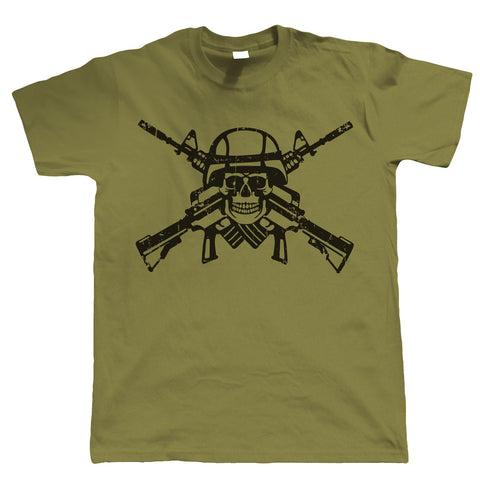 Shooter Skull & Crossbones, Mens Gamer, Airsoft or Paintball T Shirt