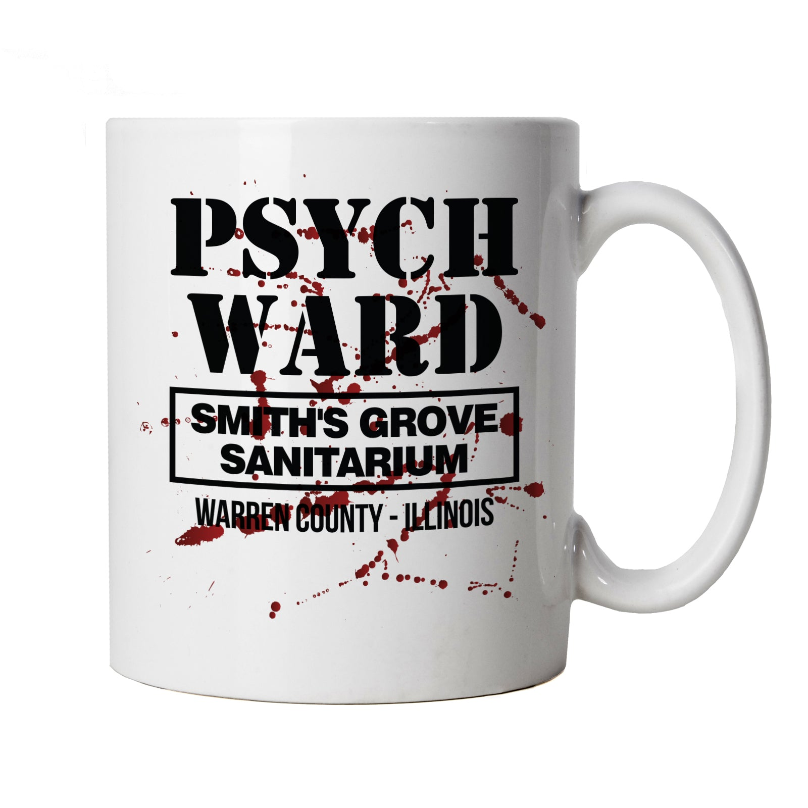 Smiths Grove Sanitarium Mug | Texas Elm Friday Nightmare Halloween 13th Street | Action Adventure Horror Sci-Fi Thriller Comedy Spy | TV & Movie Cup Gift
