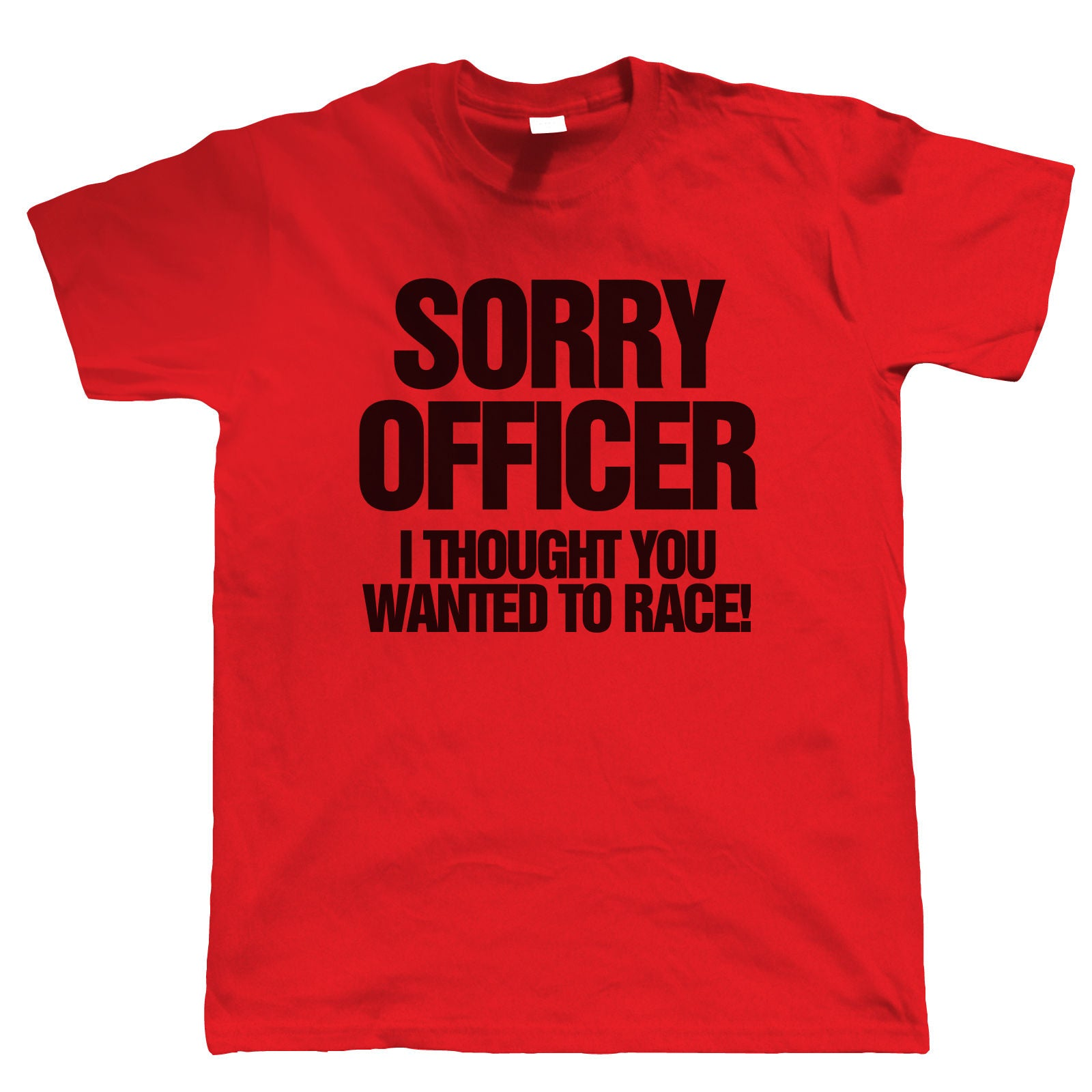 Sorry Officer, Mens Funny Biker T Shirt | Motorbike Enthusiast Motorcycle Club Chopper Cafe Racer Superbike Gentleman Biker | Cool Birthday Christmas Gift Present Him Dad Husband Son