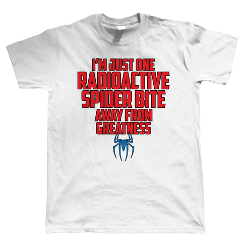 Spider Bite, Mens Funny T Shirt