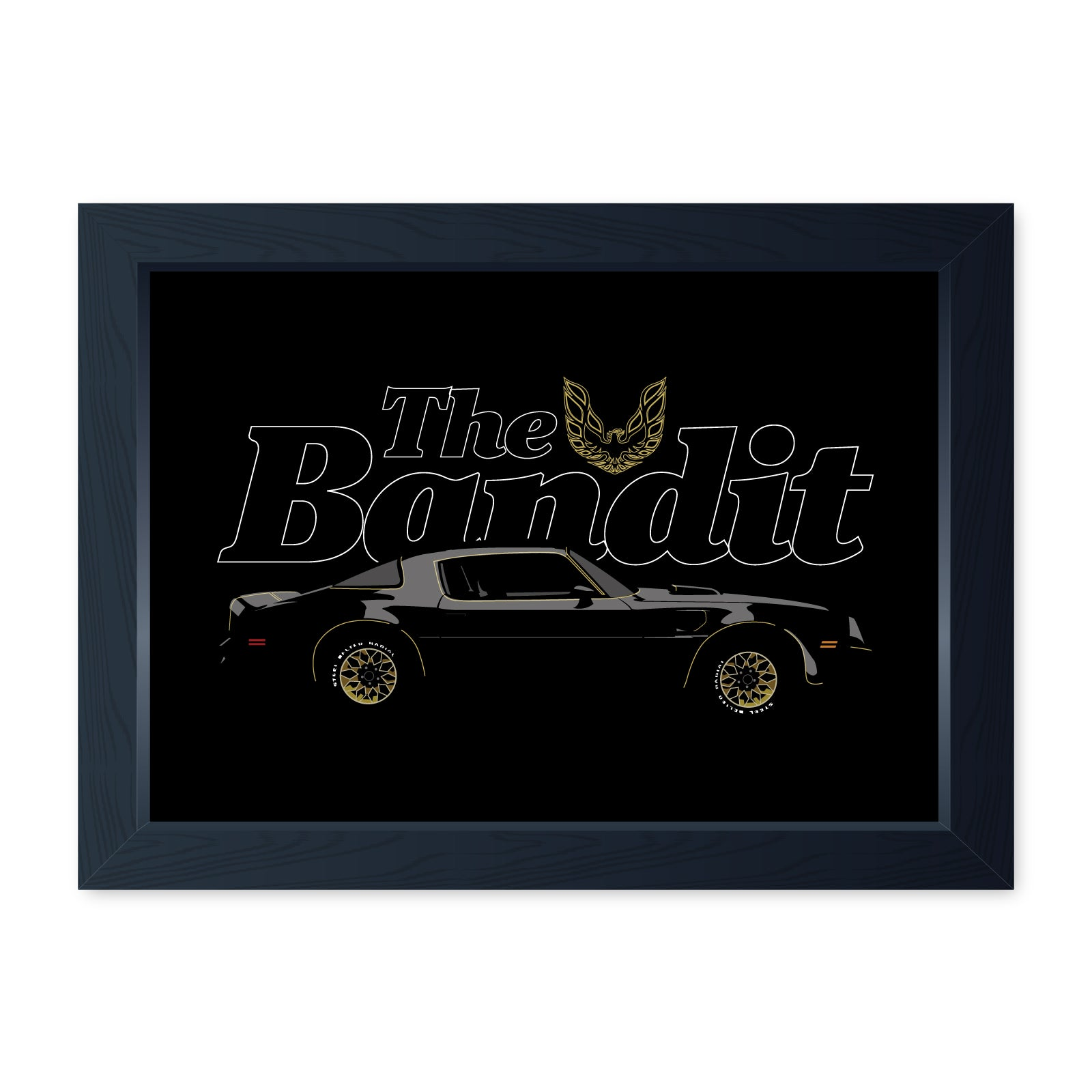 The Bandit Framed Print - Home Decor Kitchen Bathroom Man Cave Wall Art