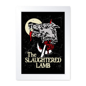 The Slaughtered Lamb, Horror Movie Inspired Quality Framed Print - Cinema Room Man Cave Art