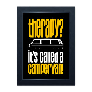 Therapy Campervan, Framed Or Frameless Poster Print - T25 Van Wall Art Gift