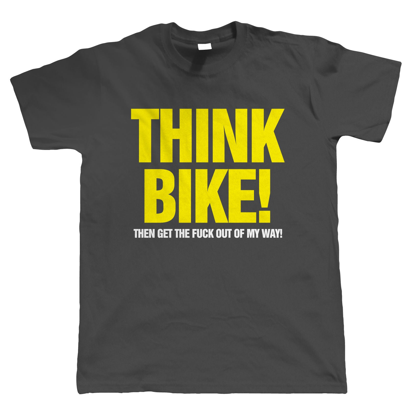 Think Bike Mens Funny Biker T Shirt | Motorbike Enthusiast Vintage British Motorcycle Club Chopper Cafe Racer Superbike Gentleman Biker | Cool Birthday Christmas Gift Present Him Dad Husband Son