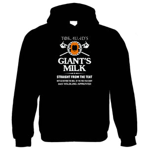 Giants Milk TV Movie Inspired Funny Hoodie | TV Movie Fan Geek Fantasy Fiction Series | Christmas Birthday Present Gift Him Dad Her Mum