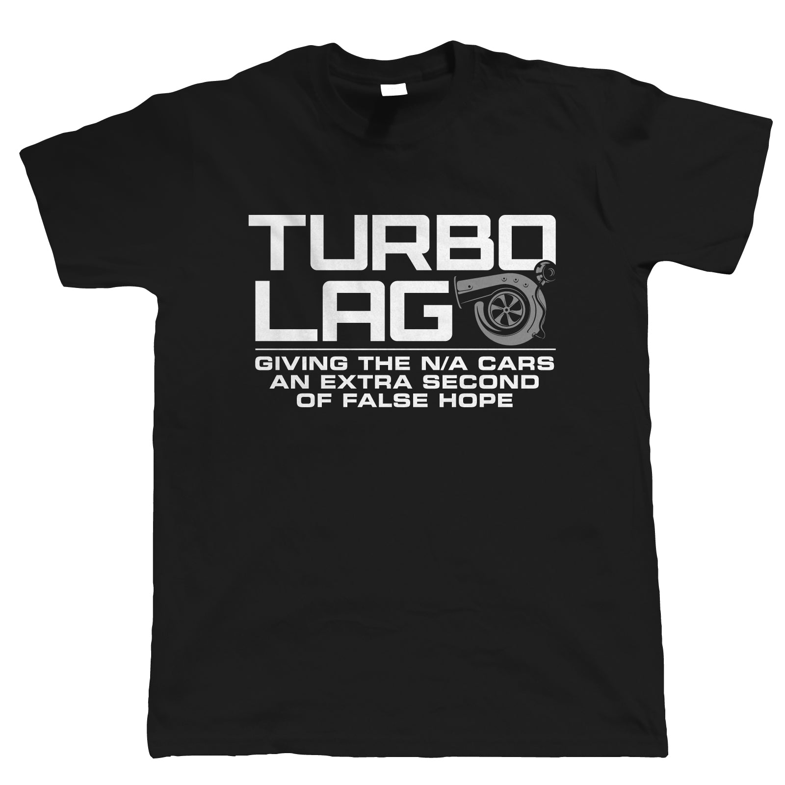 Turbo Lag Mens Funny Car T Shirt