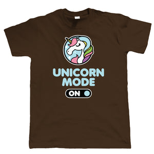 Unicorn Mode On, Mens Funny T Shirt | Guest Artist JG