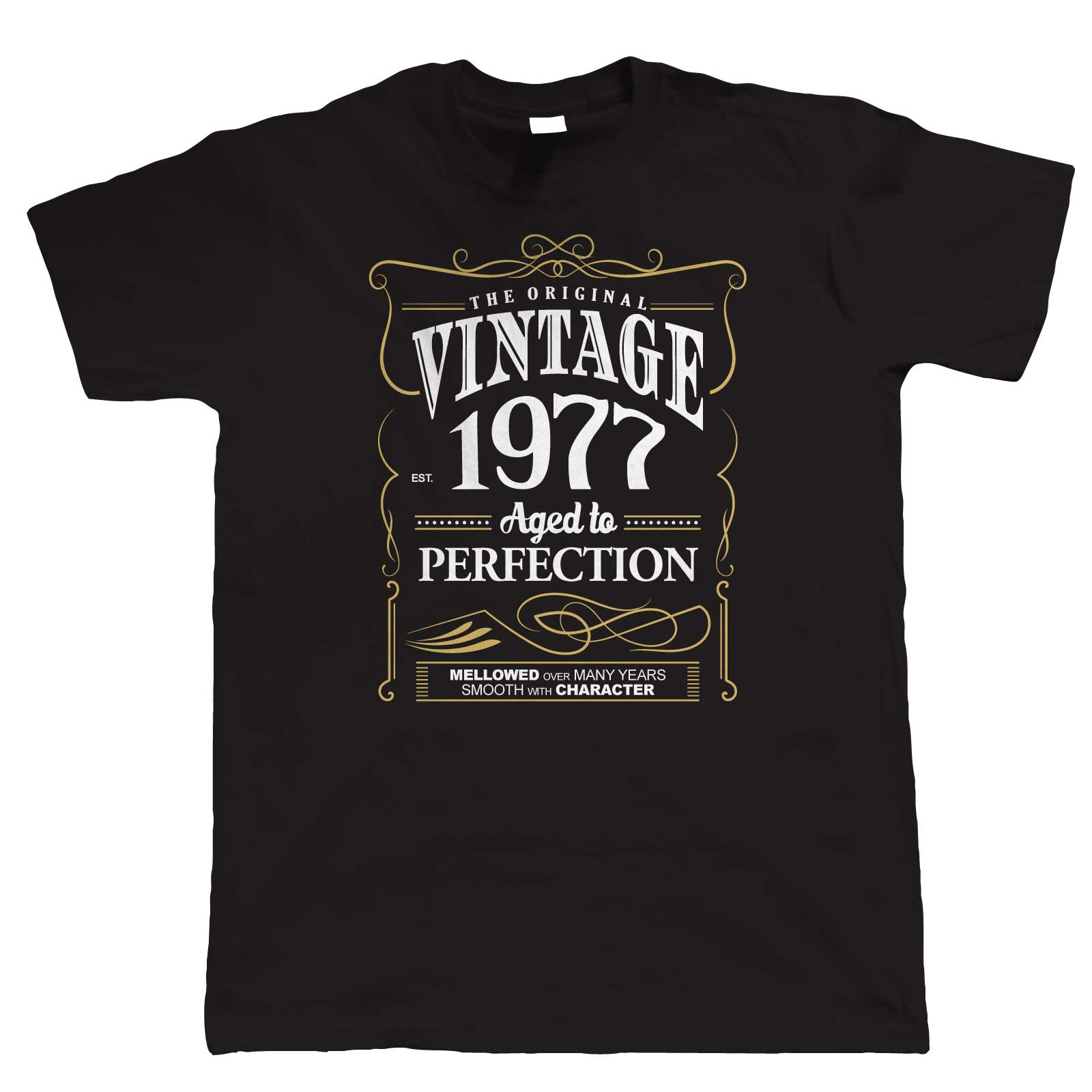 Vintage 1977 Aged To Perfection, Mens T Shirt