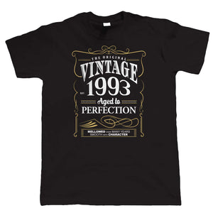 Vintage 1993 Aged To Perfection, Mens T Shirt
