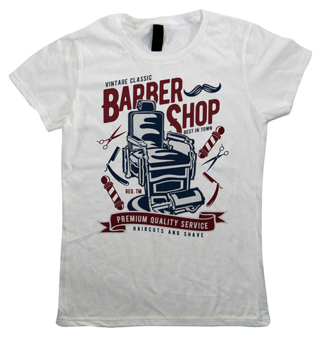 Vintage Barber Shop, Womens T Shirt