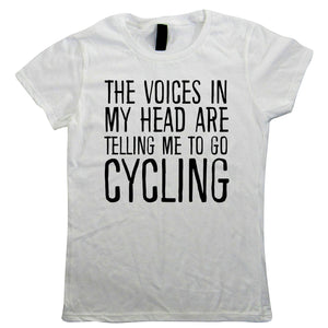 Voices In My Head Cycling, Womens Funny T Shirt