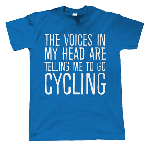 Voices In My Head Cycling, Mens Funny T Shirt