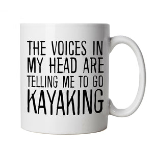 Voices In My Head Go Kayaking, Mug