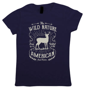 Wild Nature American Hunter, Womens T Shirt