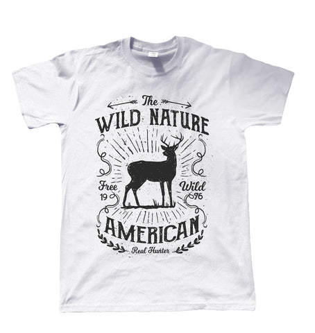 Wild Nature American Hunter, Mens T Shirt