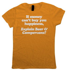 Beer & Campervans, Womens T Shirt