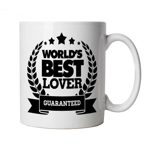 World's Best Lover Mug | Valentines Day Husband Wife Boyfriend Girlfriend | Fiance Heart Chocolates Flowers Roses Love Gift | Valentines Cup Gift