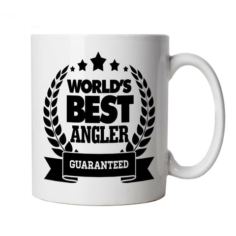 Worlds Best Angler, Funny Fishing Mug | Coarse Carp Sea Match Fly Specimen Tackle Fishermen Clothing Angling | Cool Birthday Christmas Gift Present Him Dad Husband Son
