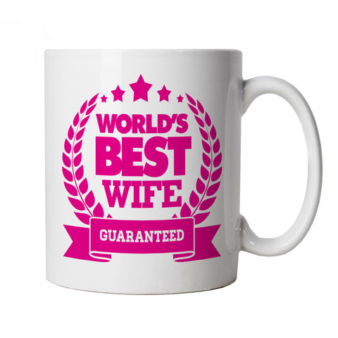 World's Best Wife Mug | Valentines Day Husband Wife Boyfriend Girlfriend | Fiance Heart Chocolates Flowers Roses Love Gift | Valentines Gift Cup