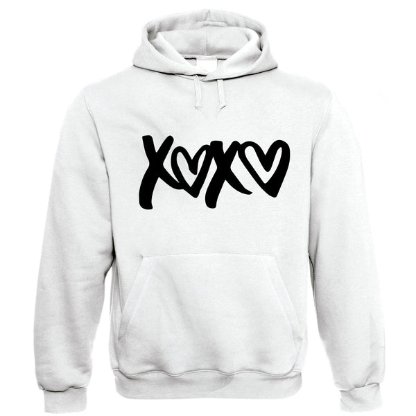 XOXO, Hoodie | Love is in the air Valentines Day Hugs and Kisses | Gift Him Dad Her Mum